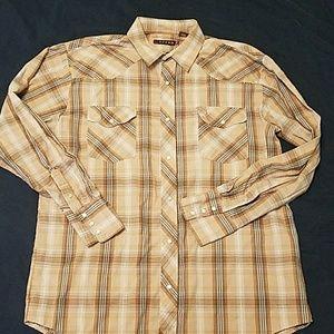 Roper Snap button Western shirt XL